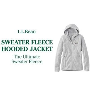 NWT L.L.Bean Sweater Fleece, Full-Zip Hoodie